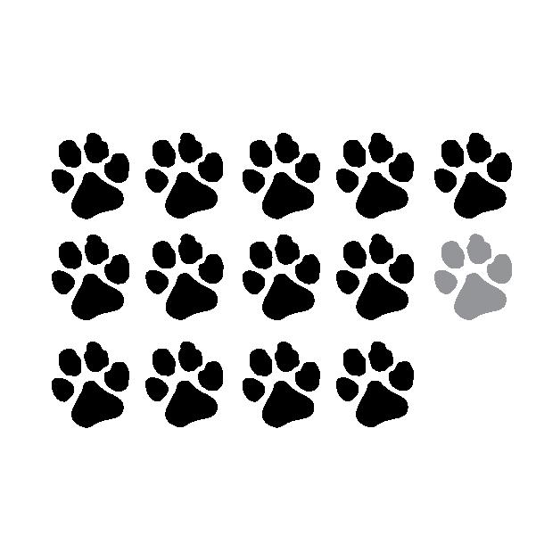 Icon representing a student/teacher ratio